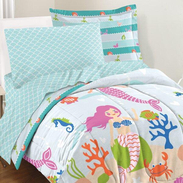 Hallam Mermaid Dreams 3 Piece Comforter Set by Zoomie Kids