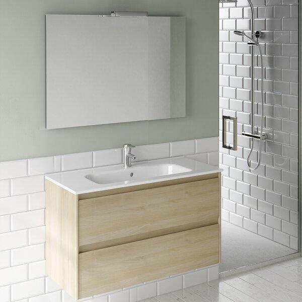 Ambra 24 Single Bathroom Vanity Set with Mirror by WS Bath Collections
