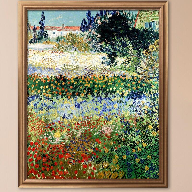 U0027Garden In Bloom, Arles, C.1888u0027 By Vincent Van Gogh Framed