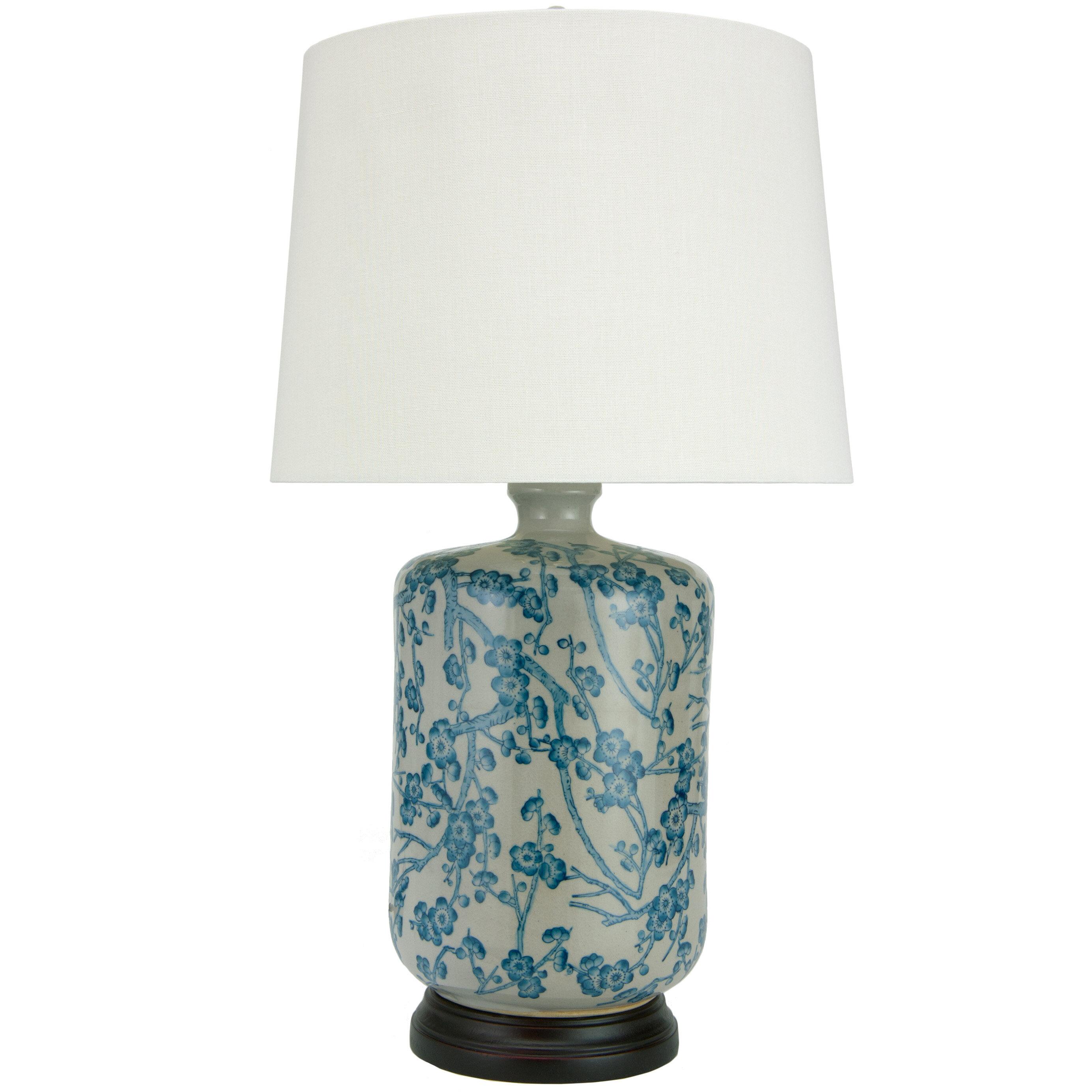 Oriental Furniture Cherry Blossom 25 Table Lamp Reviews Wayfair