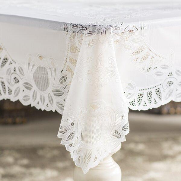 Fenn Crochet Vinyl Lace Rectangle Tablecloth by Astoria Grand