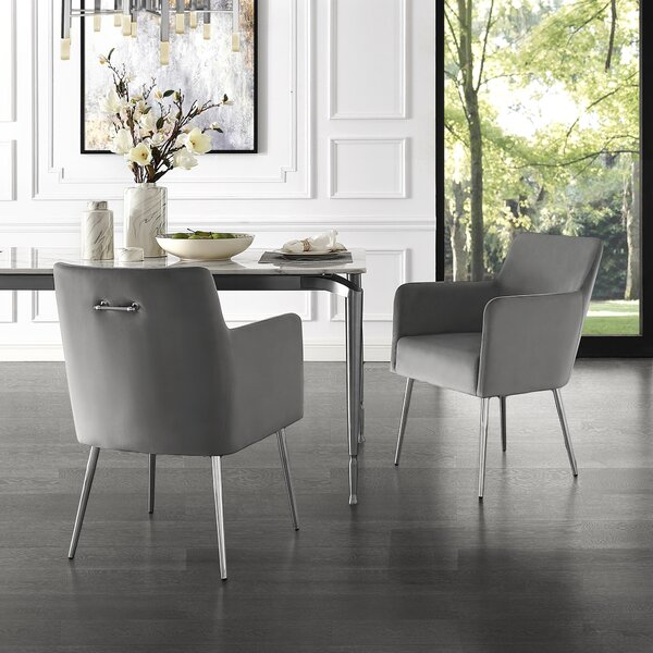 Blythe Upholstered Dining Chair (Set of 2) by Everly Quinn