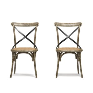 wood and metal dining chair metal kitchen u0026 dining chairs you u0027ll love wayfair
