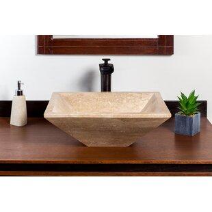 Price comparison Zac Stone Rectangular Vessel Bathroom Sink ByLaguna Marble