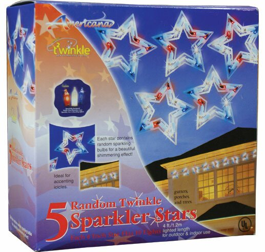 5 Twinkling Patriotic Stars by Penn Distributing