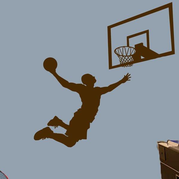 Hashimoto 2 Piece Basketball Slam Dunk Wall Decal Set by Zoomie Kids