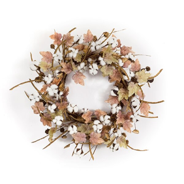 Cotton/Leaf 24 Polyester Wreath by The Holiday Aisle