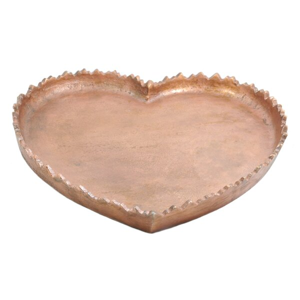 Zrest Heart Accent Tray by Pink Lemonade