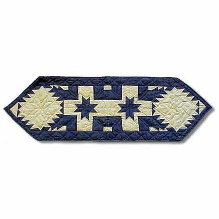 Feathered Star Table Runner by Patch Magic