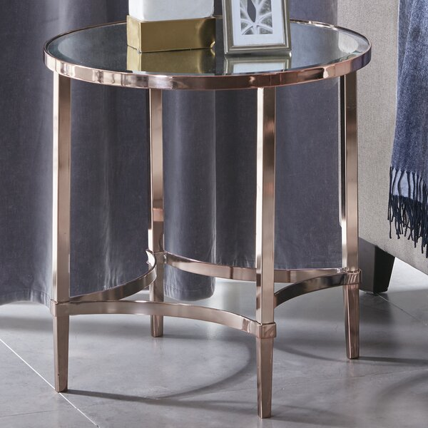 Triton Round End Table by Madison Park Signature