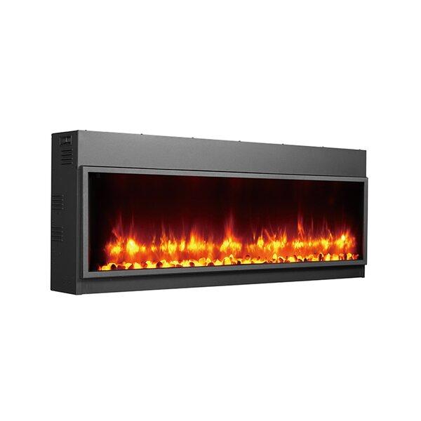 Barnier Recessed Wall Mounted Electric Fireplace by Orren Ellis Orren Ellis