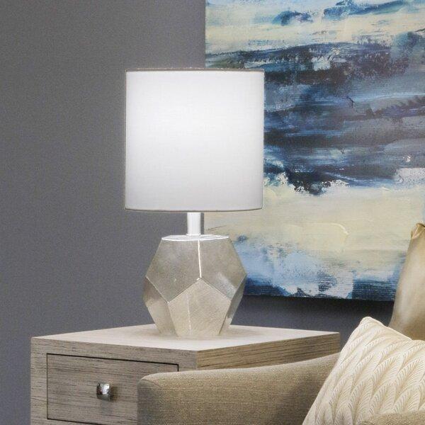 Mayfair Geo-Mercury Glass 18.25 Table Lamp by House of Hampton