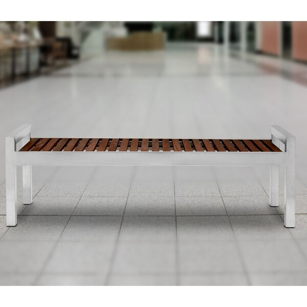 Skyline Stainless Steel Picnic Bench by Commercial Zone