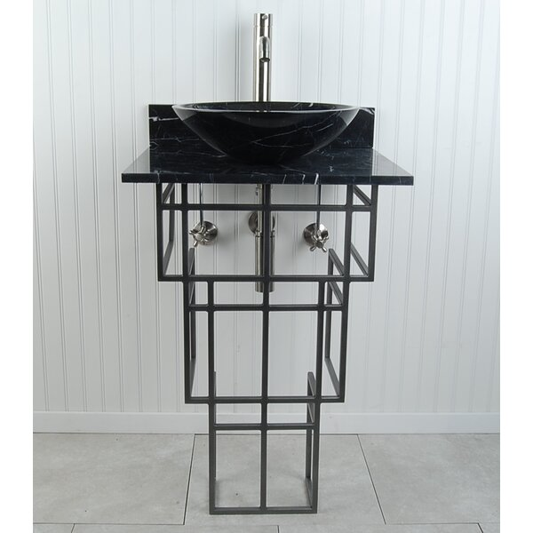 Mission Metal 22 Pedestal Bathroom Sink by D'Vontz