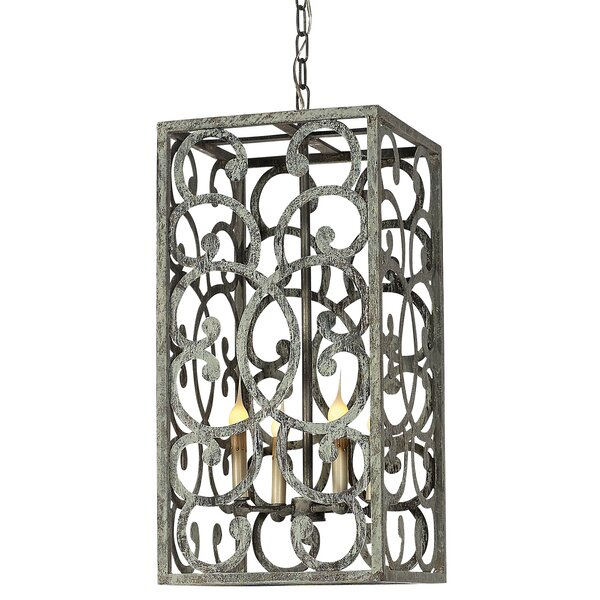 4 - Light Candle Style Rectangle / Square Chandelier by ellahome ellahome
