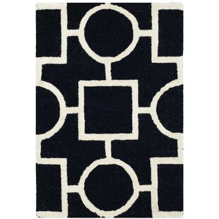 Affordable Martins Black Area Rug By Wrought Studio