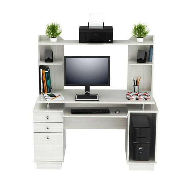 Santoro Computer Desk with Hutch by Latitude RunSantoro Computer Desk with Hutch by Latitude Run