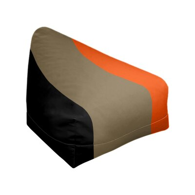 "Classic Bean Bag East Urban Home Fabric: Black/Metallic Gold/Orange, Size: 30"" H x 27"" W x 27"" D"