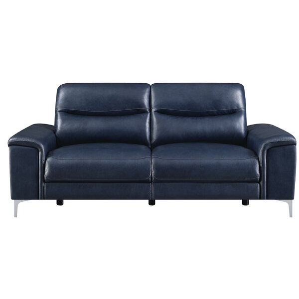 Top Reviews Vincenza Leather Reclining Sofa by Orren Ellis by Orren Ellis