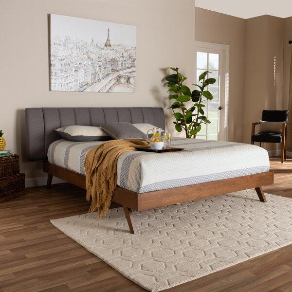 Britten Mid-Century Modern Upholstered Platform Bed by Corrigan Studio Corrigan Studio