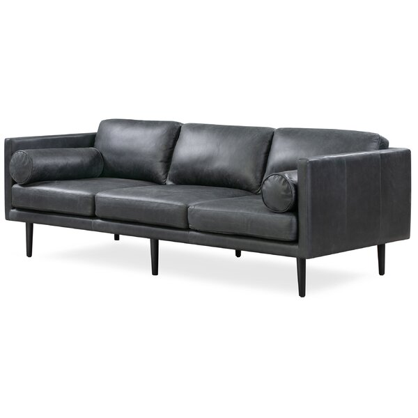 Awesome Lunde Leather Sofa by George Oliver by George Oliver