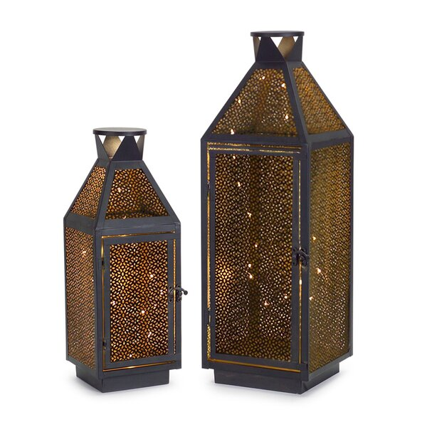 2 Piece LED Lantern Heads Set by Melrose International