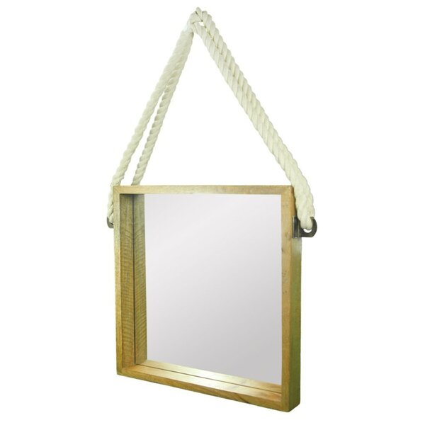 Mansbury Intriguing Wooden Rope Accent Mirror by Breakwater Bay