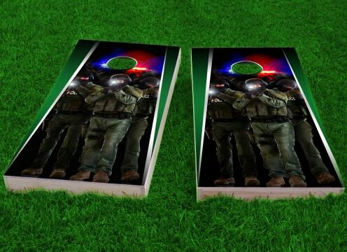 SWAT Team Cornhole Game (Set of 2) by Custom Cornhole Boards