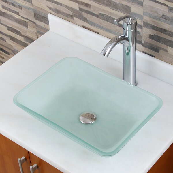 Elite Glass Rectangular Vessel Bathroom Sink by Elimaxs