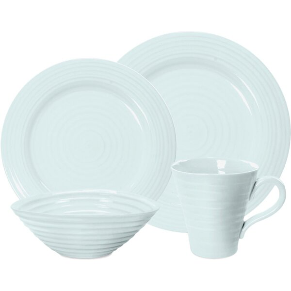 Sophie Conran Celadon 4 Piece Place Setting, Service for 1 by Portmeirion