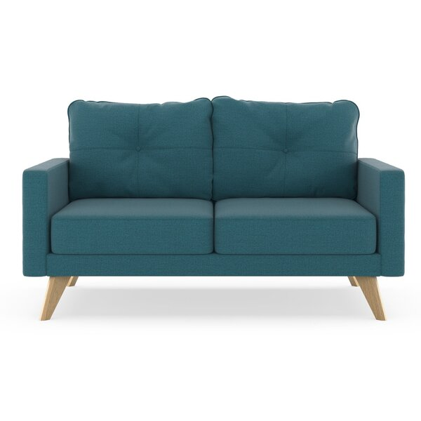 Coyer Oxford Weave Loveseat by Corrigan Studio