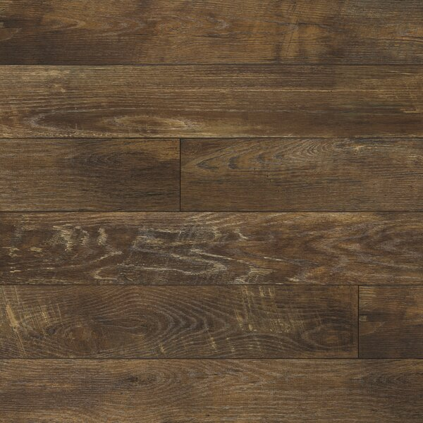 Restoration 6'' x 51'' x 12mm Oak Laminate Flooring in Charcoal by Mannington