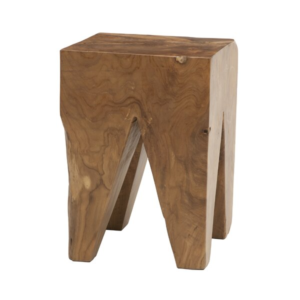 Square Teak Accent Stool by EQ3