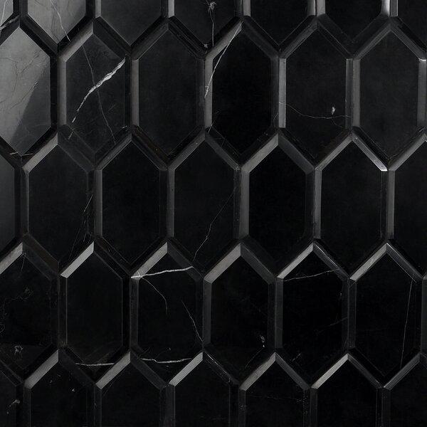 Nero Marquina 4 x 8 Beveled Porcelain Wall & Floor Tile