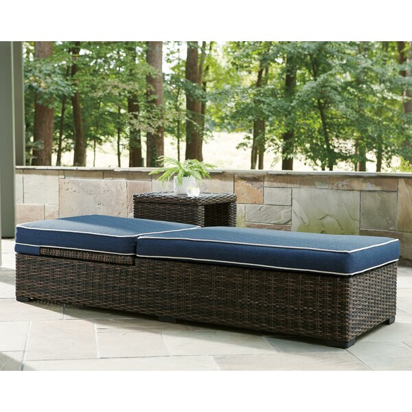 Loganville Reclining Chaise Lounge with Cushion