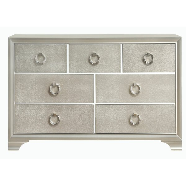 Trainer Wooden 7 Drawer Double Dresser by House of Hampton