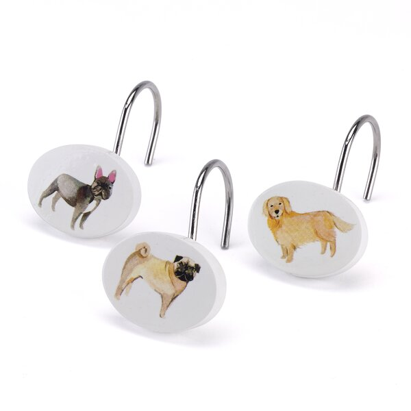 Dogs on Parade Shower Curtain Hooks by Avanti Linens