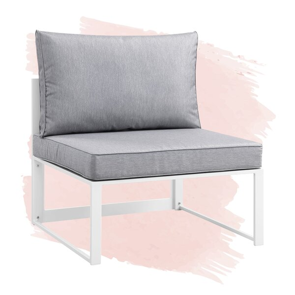 Annemarie Outdoor Patio Chair with Cushions by Foundstone Foundstone