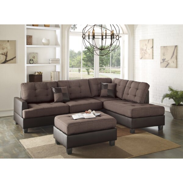 Venegas Reversible Sectional with Ottoman by Latitude Run