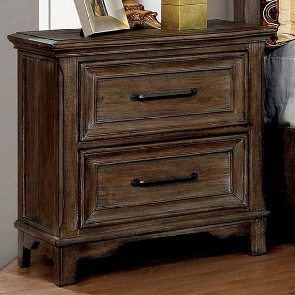 Grote 2 Drawer Nightstand by Loon Peak