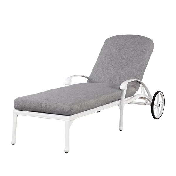 Yates Chaise Lounge Chair with Cushion by One Allium Way