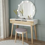 Hermanson Vanity Set with Stool and Mirror by George Oliver