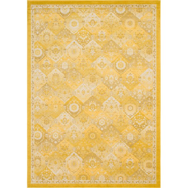 Ernst Yellow Area Rug by Bungalow Rose