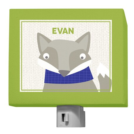 Oopsy Daisy Happy Fox Evan Night Light by GreenBox Art