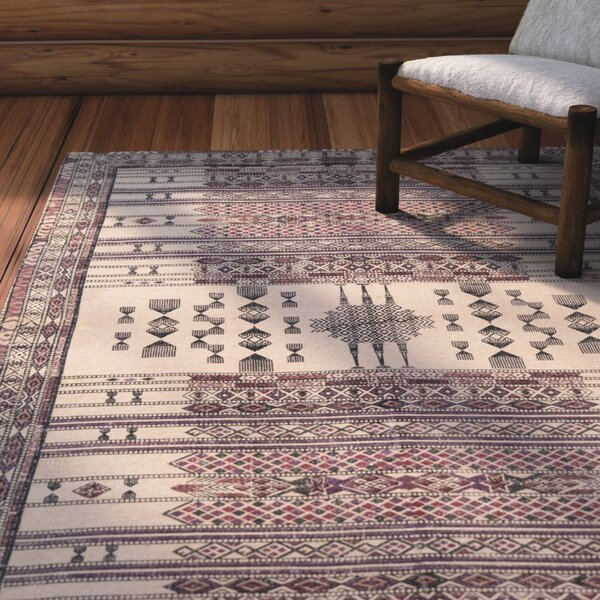 Pitts Hand-Woven Bright Purple/Rose Area Rug by Loon Peak