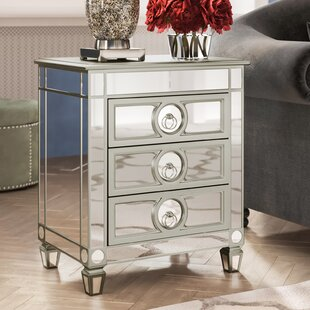 Hall Mirrored 3 Drawer Accent Chest