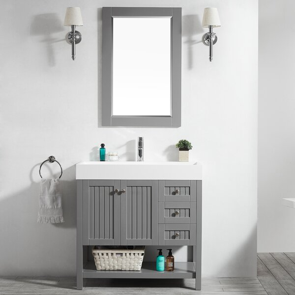 Harward 35 Single Bathroom Vanity Set with Mirror by Highland Dunes