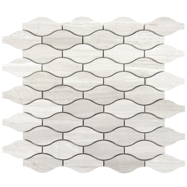 Wave 1.5 x 3 Wood Mosaic Tile in Gray by Luxsurface