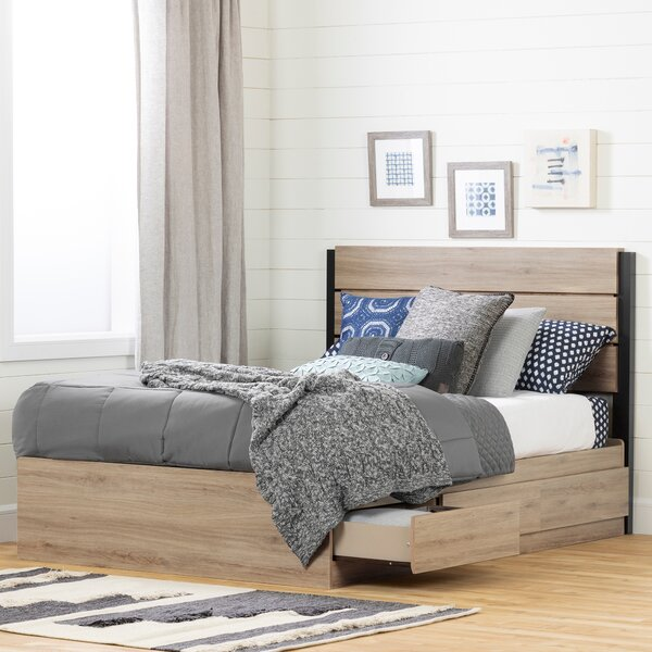 Fakto Full Storage Platform Bed by South Shore