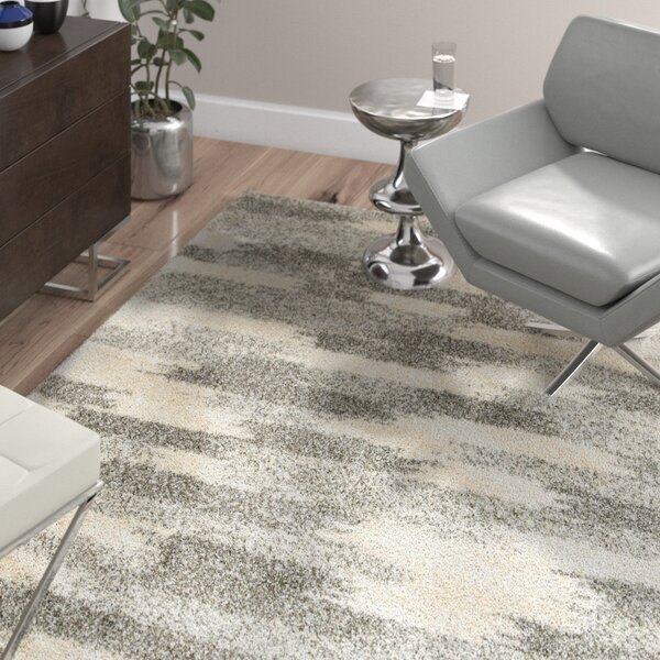 Leonard Gray/Ivory Area Rug by Wade Logan